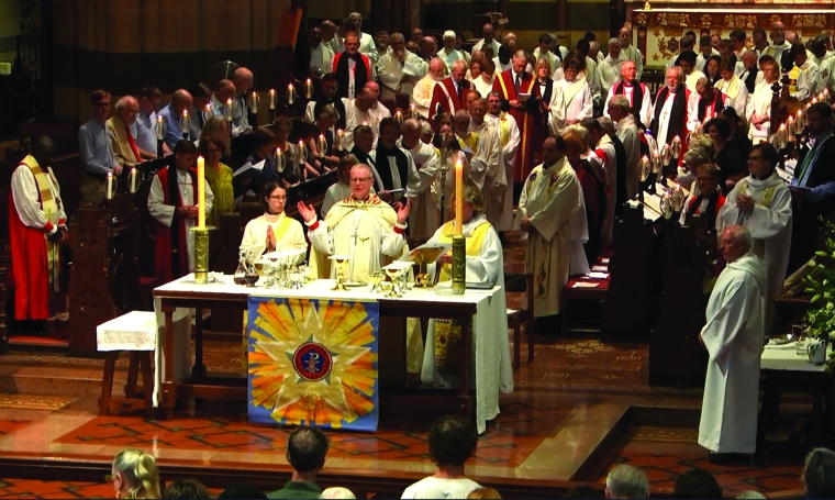 Communion during 2016 Ordination of Deacons