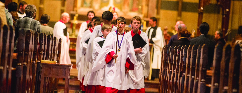 choristers procession