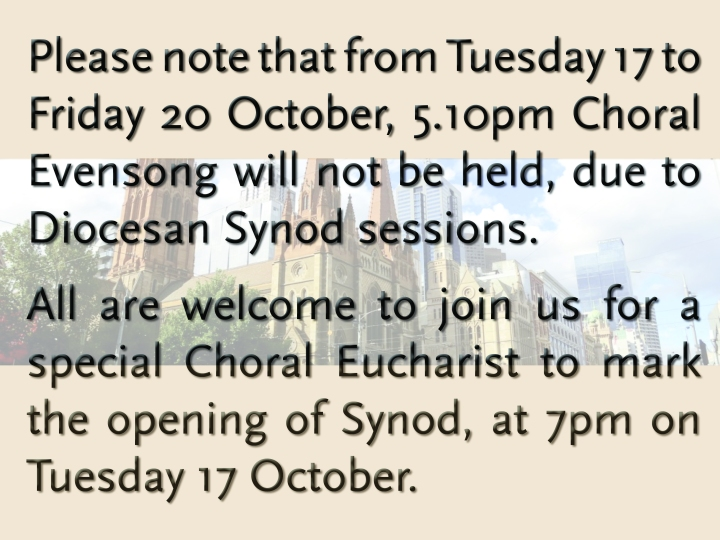Synod service
